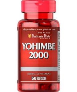 Puritan's Pride Yohimbe 2000 (50 капсул, 25 порций)
