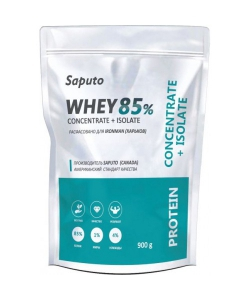 Saputo Whey Concentrate + Isolate 85% (900 грамм, 30 порций)