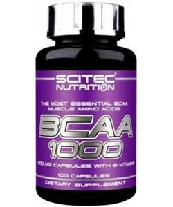 Scitec Nutrition BCAA 1000 (100 капсул, 50 порций)
