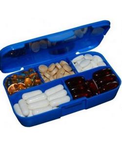 Scitec Nutrition Таблетница Pill box blue whith Scitec logo