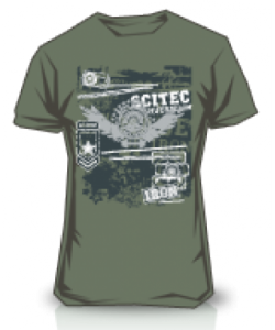 Scitec Nutrition T-shirt Made of Iron Green