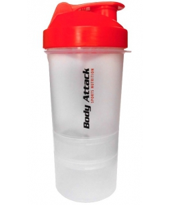 SmartShake Body Attack шейкер 3-х компонентный (400 мл)