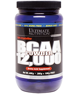 Ultimate Nutrition BCAA 12.000 (400 грамм, 66 порций)