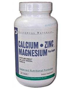 Universal Nutrition Calcium Zinc Magnesium (100 таблеток)