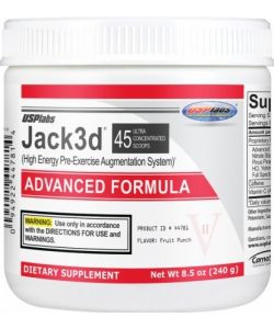 USPlabs Jack3d Advanced Formula (240 грамм, 43 порции)
