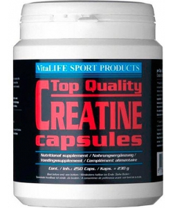 VitaLIFE Top Quality Creatine Capsules (350 капсул, 50 порций)
