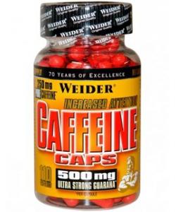 Weider Caffeine Caps (110 капсул, 110 порций)